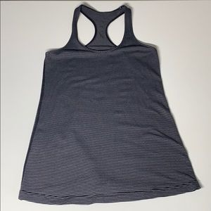Lululemon Long Striped Racerback Stretch Tank Top